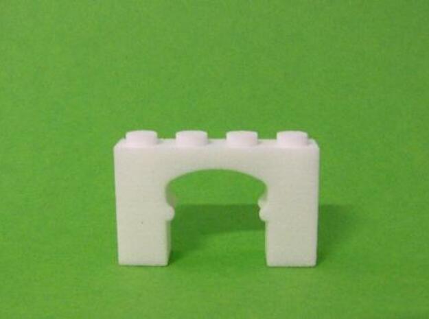 Oriental Arch Brick in White Natural Versatile Plastic