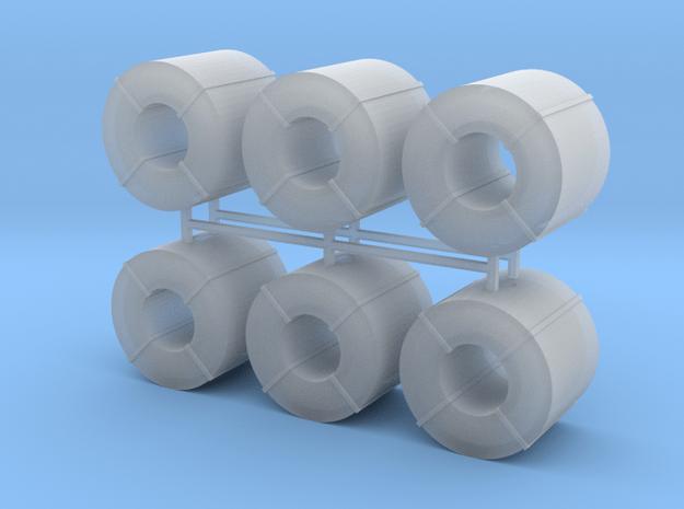 Coil Stahlblech 6erSet - 1:120 TT in Smooth Fine Detail Plastic