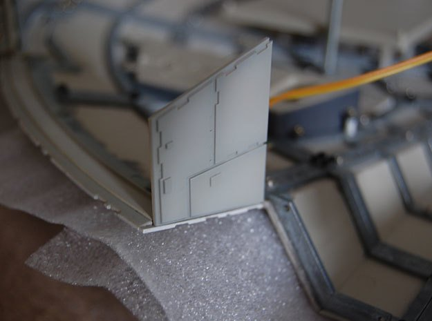 DeAgo Millennium Falcon Airlock side panels in Smooth Fine Detail Plastic