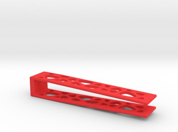 "Money Clip and Lock for Card Holder ""Marsupilami"" in Red Processed Versatile Plastic"