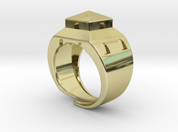 Anello LB in 18k Gold Plated Brass