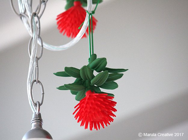 Pohutukawa leaves (Christmas tree of New Zealand) in Green Processed Versatile Plastic
