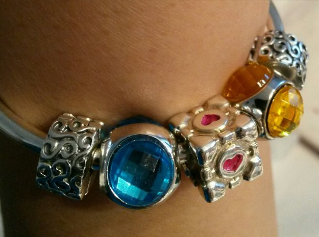 Portal Companion Cube Bead (for charm bracelets)