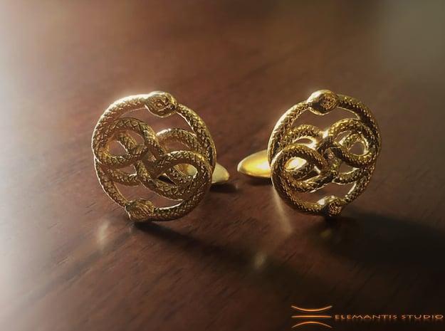 AURYN Cufflinks in Natural Brass