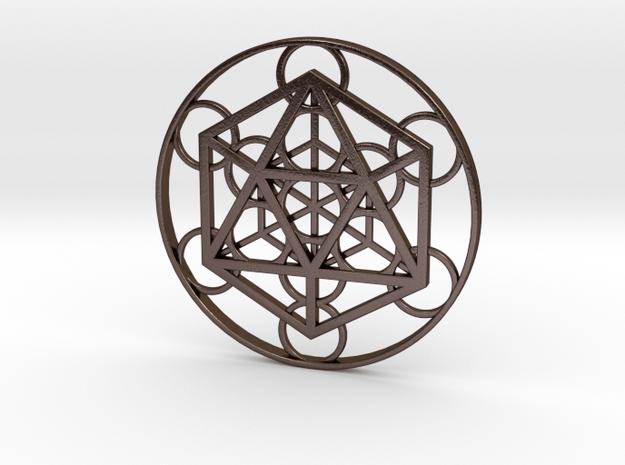 Metatron Cube - Icosahedron in Polished Bronze Steel
