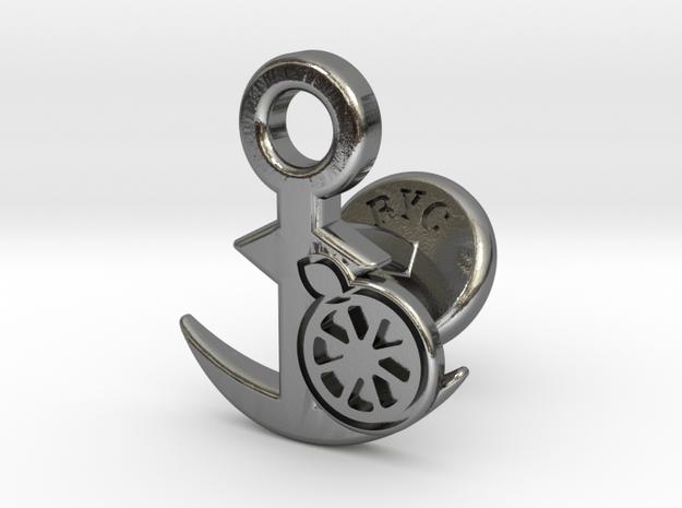 Cufflinks - Kan Kan Mikan! in Polished Silver