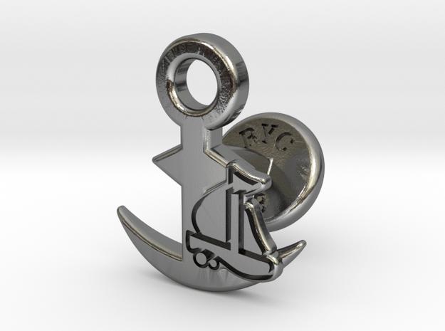 Cufflinks - Full Speed Ahead! Aye Aye! in Polished Silver