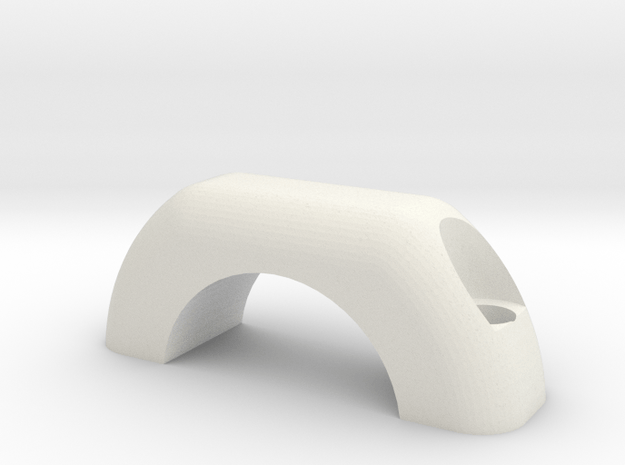 Shimano I-spec A/B handlebar adapter cap in White Natural Versatile Plastic