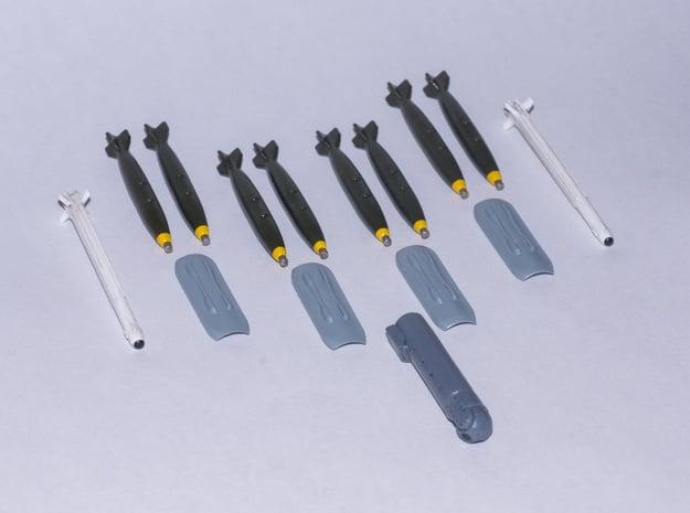 JAS-39 SAAB Gripen SAAF Weapon Pack in Smooth Fine Detail Plastic: 1:72