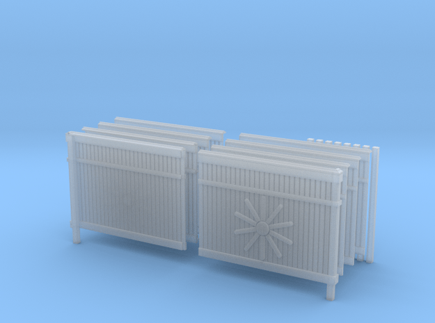 1/35 Scale Russian Fence Pack in Smooth Fine Detail Plastic