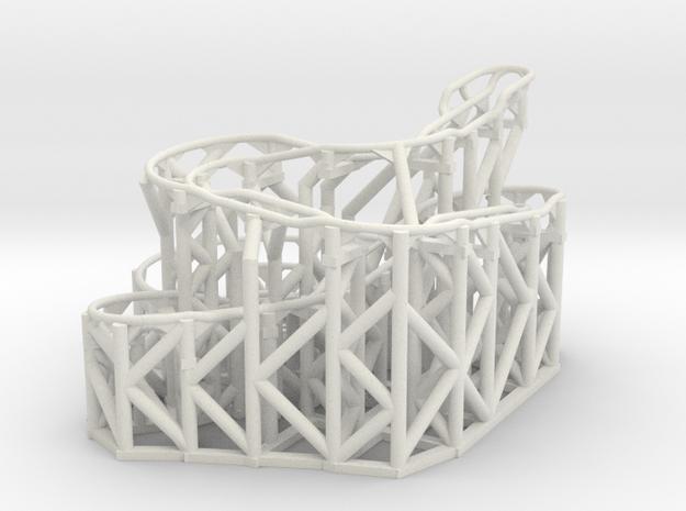 Rolling Ball Sculpture Phillipians 3:13,14 in White Natural Versatile Plastic