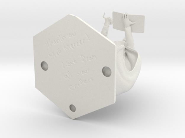 Matt Mercer_Blindfold 4 Inch in White Natural Versatile Plastic