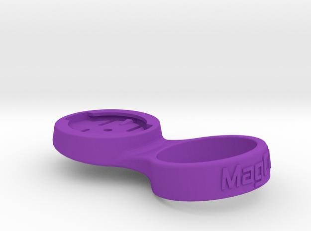 """Garmin Stem Cap Mount 1-1/8"""" - 10deg in Purple Processed Versatile Plastic"""