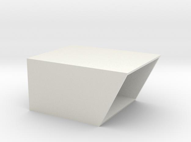Shoebox in White Natural Versatile Plastic: Medium