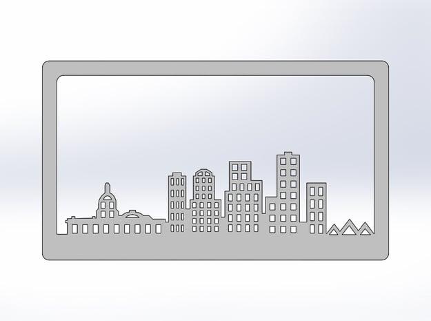 Edmonton Skyline Bookend in White Natural Versatile Plastic