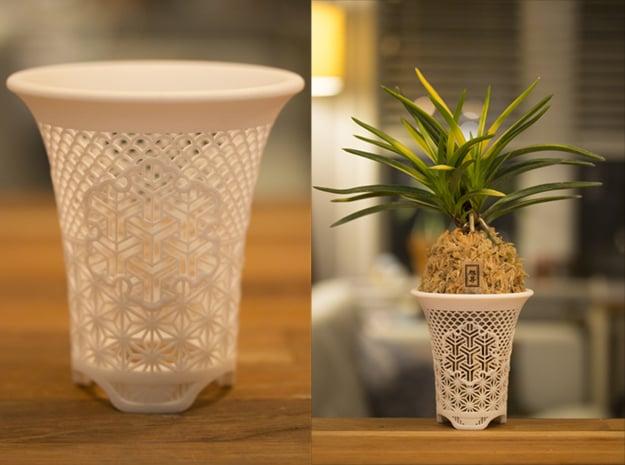 "Neo Pot - Model 6 - Size 3.5 (4.1"" OD) in White Natural Versatile Plastic"