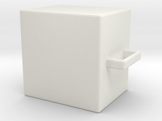 cup in White Natural Versatile Plastic: Medium