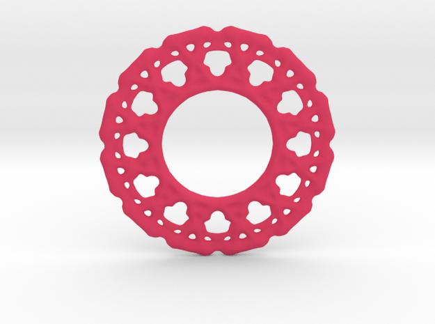 Experimental soft pendant or earrings in Pink Processed Versatile Plastic