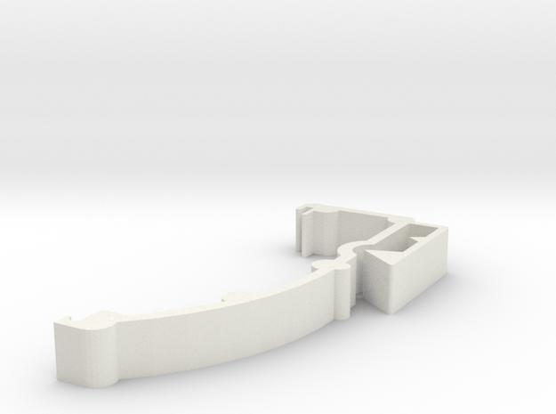 Blind Valance Clip 08b in White Natural Versatile Plastic