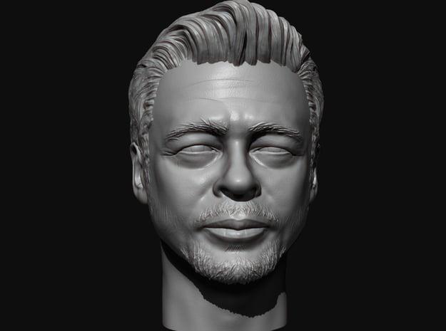 Benicio Del Toro portrait head  in White Natural Versatile Plastic