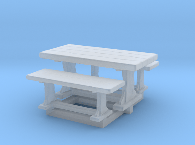 28 mm epic scale table and benches  in Smooth Fine Detail Plastic