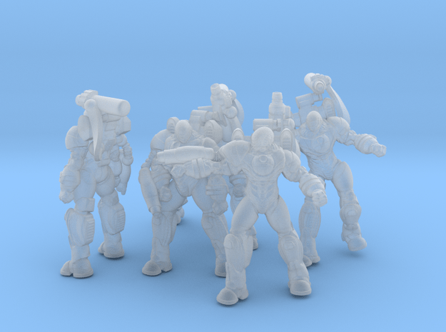 'Ceolmhor' type battle suits in Smoothest Fine Detail Plastic