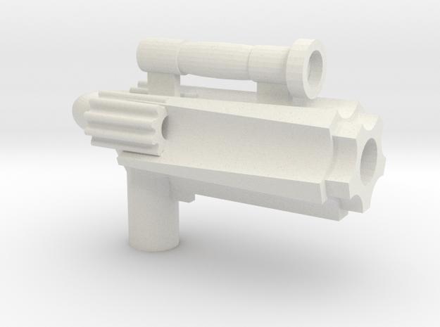 Pistol of Cool in White Natural Versatile Plastic