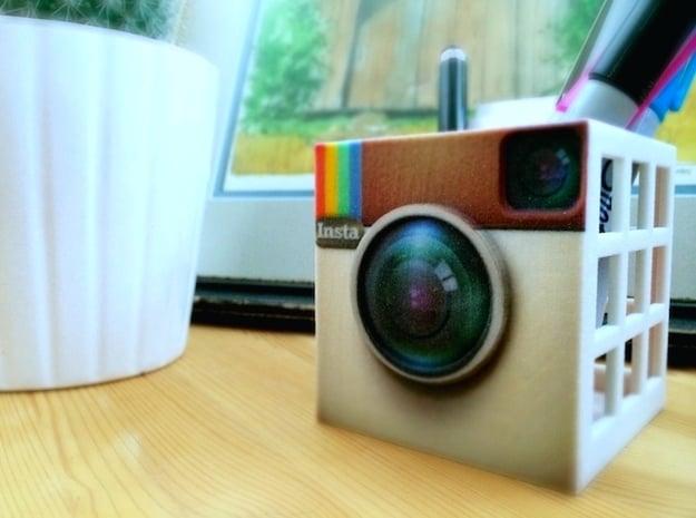 InstaBox: the Instagram Desk Container in Full Color Sandstone