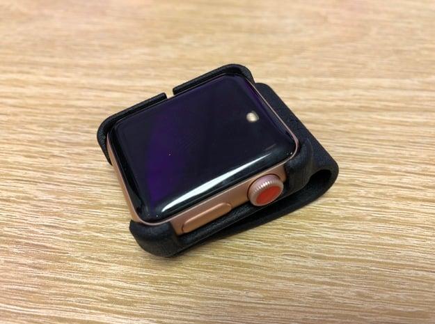 Apple Watch - 38mm Clip On in Black Natural Versatile Plastic