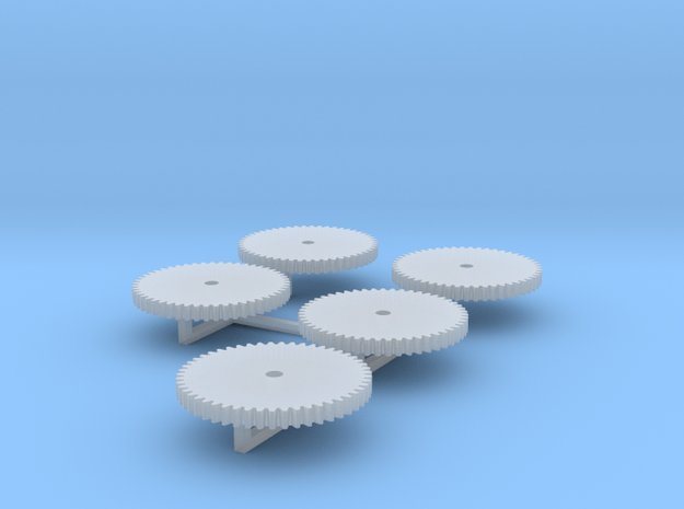 5 x Zahnrad 16mm M03 in Smooth Fine Detail Plastic