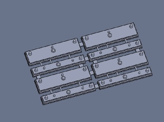 HO PTC Antenna Array for AC 4 Pieces in Smooth Fine Detail Plastic
