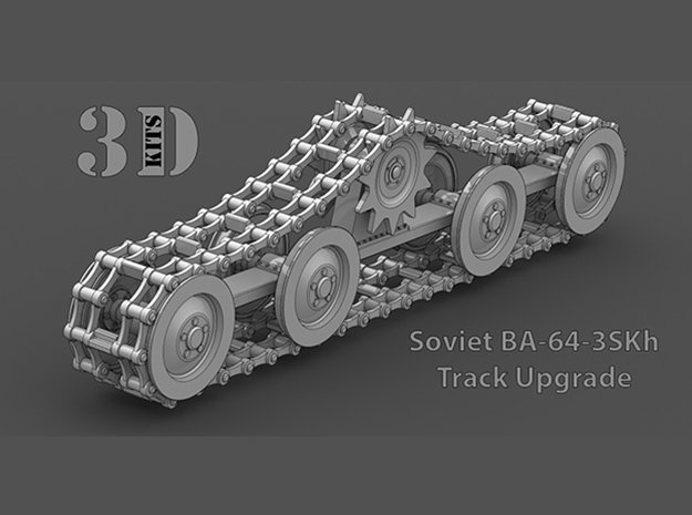 1/35 Scale Soviet BA-64-3SKh Tracks in Smoothest Fine Detail Plastic