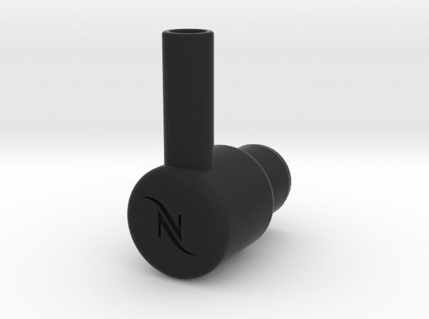 "Nespresso water tank To 3/8"" quick connect in Black Natural Versatile Plastic"
