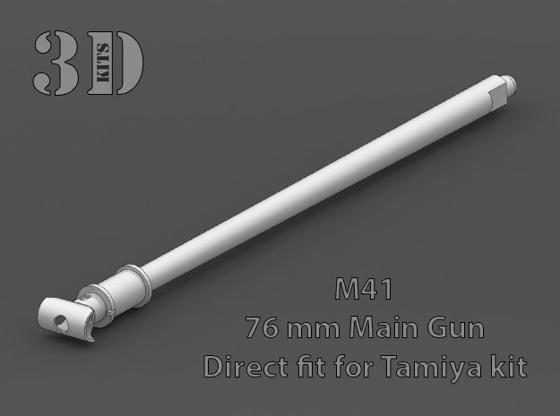 Replacement barrel for Tamiya M41 1/35 scale in Smoothest Fine Detail Plastic