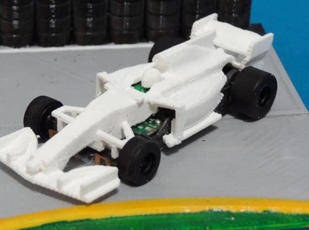 HO Formula 1 2017 Body in White Natural Versatile Plastic