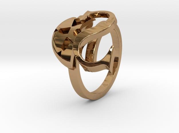 Saint Snow Twin Ring - Leah Kazuno in Polished Brass: 4 / 46.5