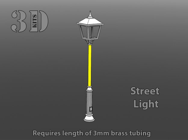 Street Lamp 1 in Smoothest Fine Detail Plastic