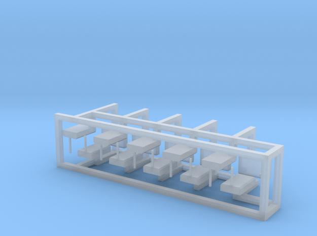 Weichenantrieb funktionslos 15erSet - H0 1:87 in Smooth Fine Detail Plastic