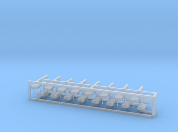 Weichenantrieb funktionslos 30erSet - H0 1:87 in Smooth Fine Detail Plastic