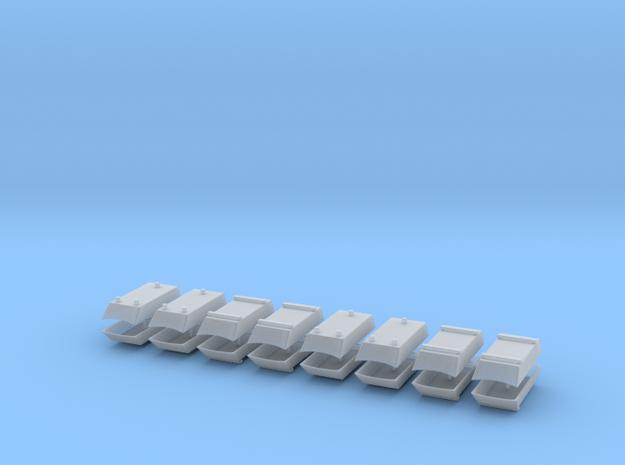 Dachaufsatz Hochdach Mix-Set für Roco VW T4 16erSe in Smooth Fine Detail Plastic