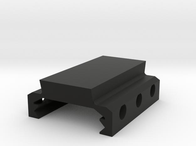 3 Slots DIY Picatinny/Weaver Mount (9.54mm High) in Black Natural Versatile Plastic
