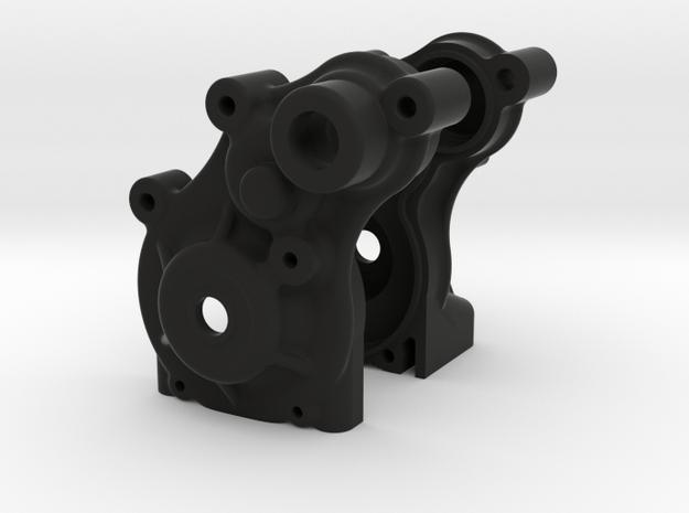 Twin Hammers SCX10 gearbox conversion (prototype) in Black Natural Versatile Plastic