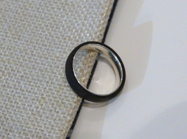 Outer ring for DIY bicolor ring in Matte Black Steel
