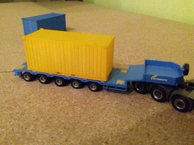 1/87Container_20ft in Smooth Fine Detail Plastic