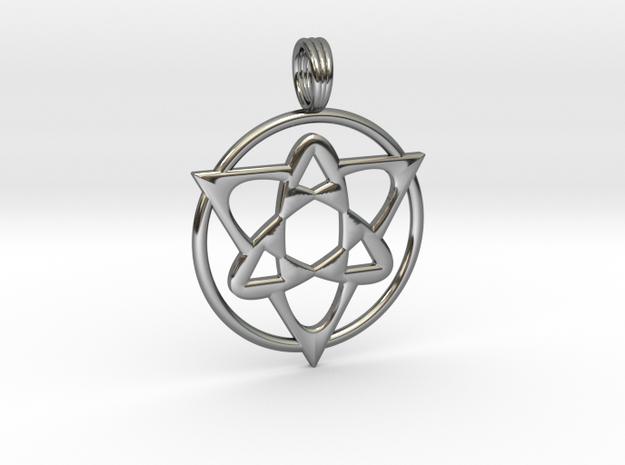 MAGNETIC FLUX in Fine Detail Polished Silver