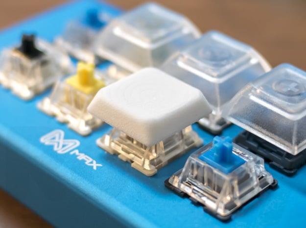 Low Profile Keycap in White Natural Versatile Plastic