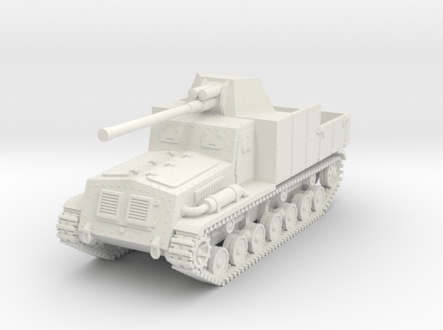 1/72 Type 5 Na-To tank destroyer in White Natural Versatile Plastic