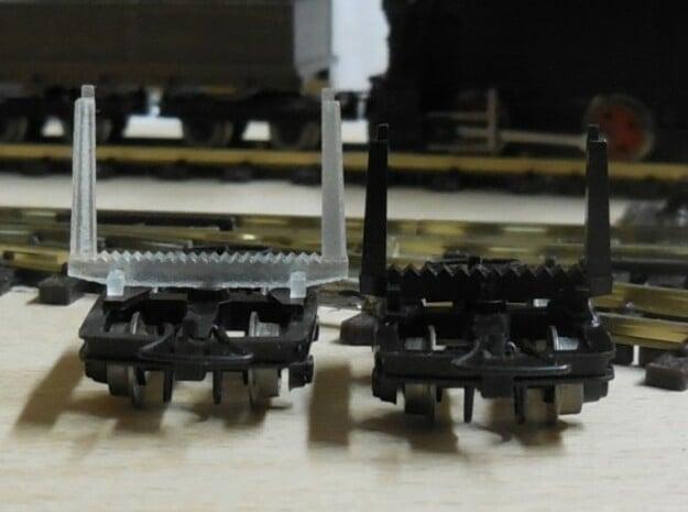 H0e - größere Drehschemel für Roco oder Minitrains in Smooth Fine Detail Plastic