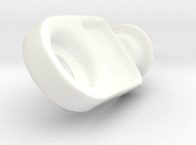Drapery Carrier 04b in White Processed Versatile Plastic