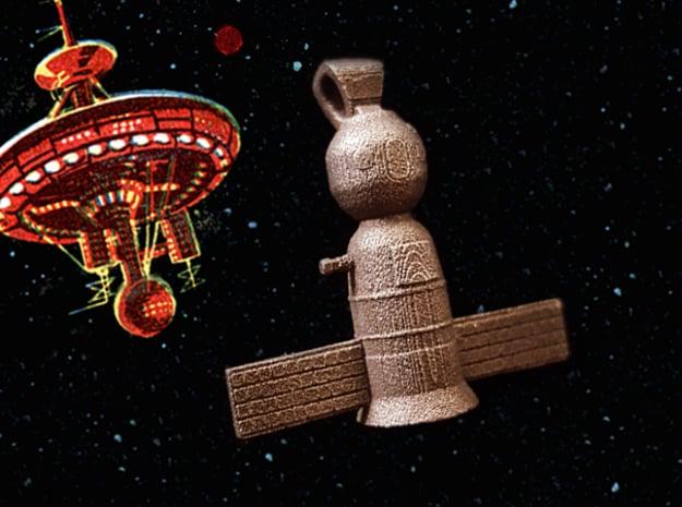 Soyuz Pendant  in Polished Bronzed Silver Steel